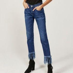 3x1 Fringe Straight Crop Lima Wash Jeans
